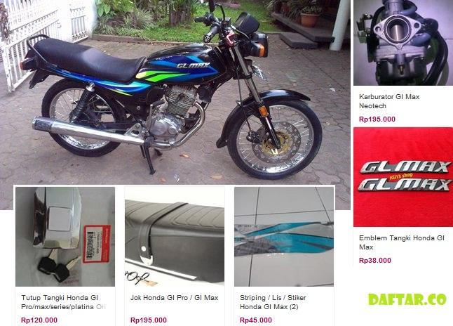 Daftar Harga Sparepart Honda GL Max