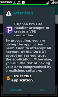 handler vpn pro lite attempts to create vpn connection