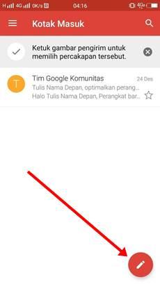 cara mengirim gmail lewat hp android