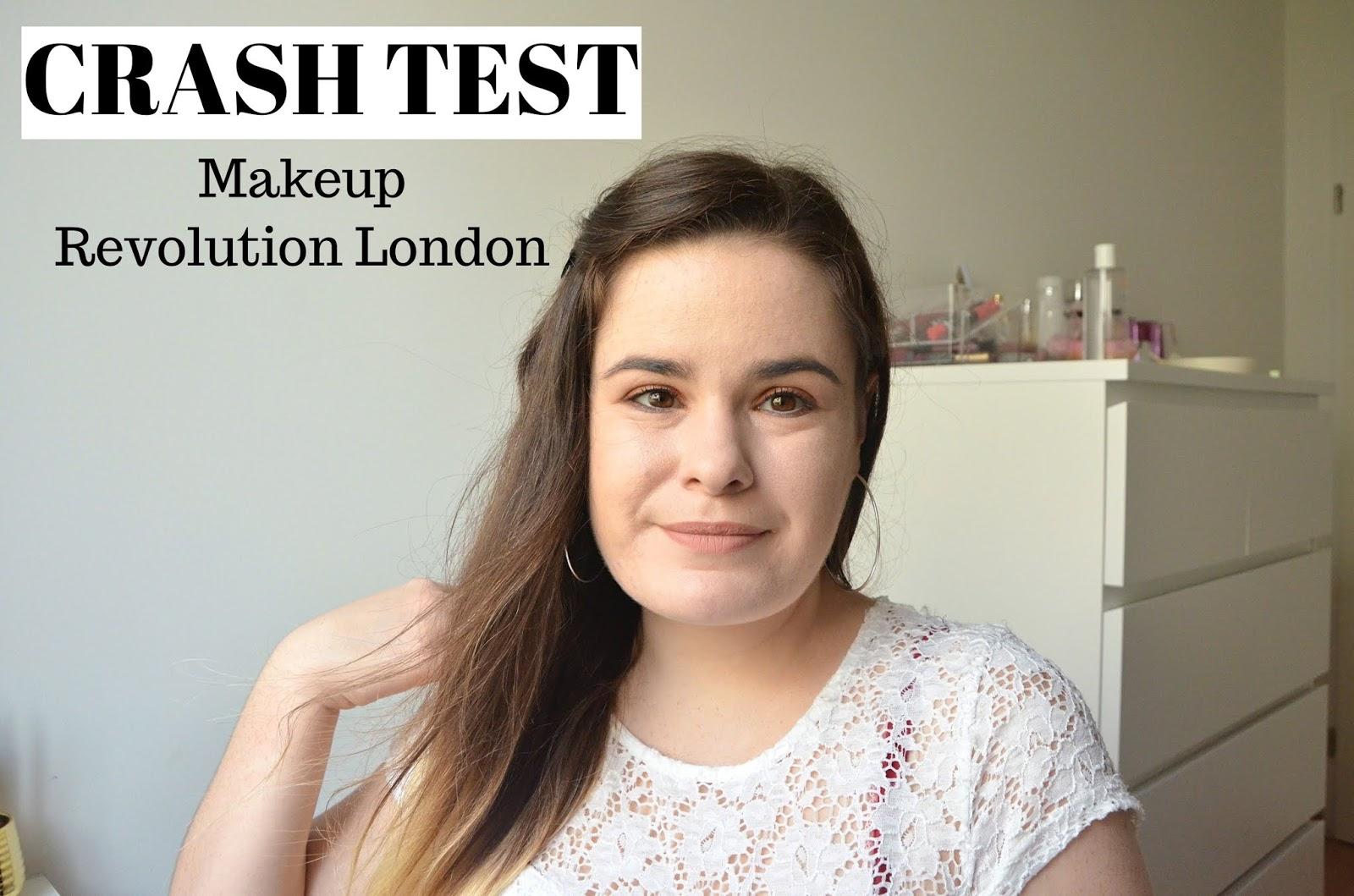 CRASH TEST je découvre la marque makeup révolution london