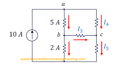 Kirchhoff's Current Law Example # 1: H Shaped Network with 5