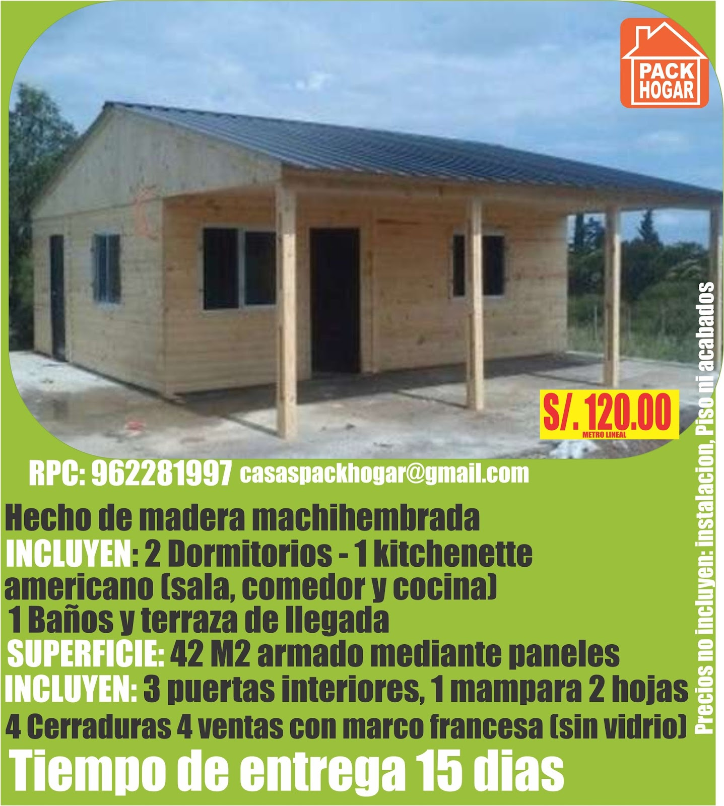 Casas prefabricadas de madera precios baratos - Bungalows de madera prefabricadas precios ...
