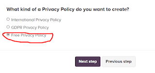 Cara membuat Privacy Policy Blog dengan Privacy Policy Generator