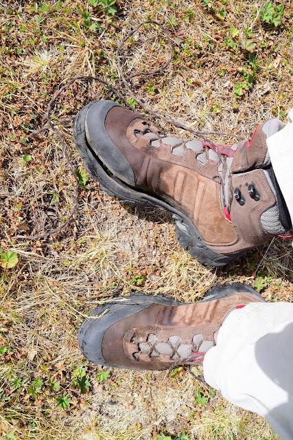 Порвался ботинок Adidas, Турьи горы, Сочи, Активный отдых, Роза Хутор, Красная поляна, фото Андрей Думчев