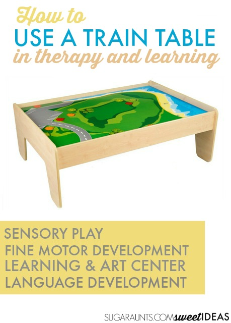 Use A Train Table In Therapy, Sensory Play, Fine Motor Development,  Learning,