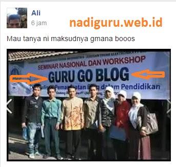 Tulisan 'GURU GO BLOG' yang Jadi Heboh di Medsos