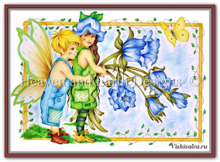 Cross stitch chart «KAM 110 Fairyness LF - artwork by Karen Middleton»