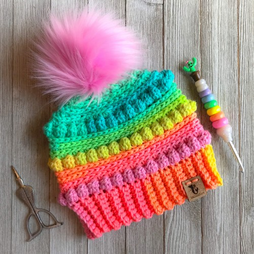 Bubblegum Pop Beanie - Free Pattern