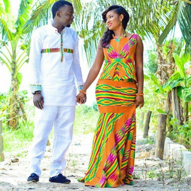 Beautiful African Couple Outfits