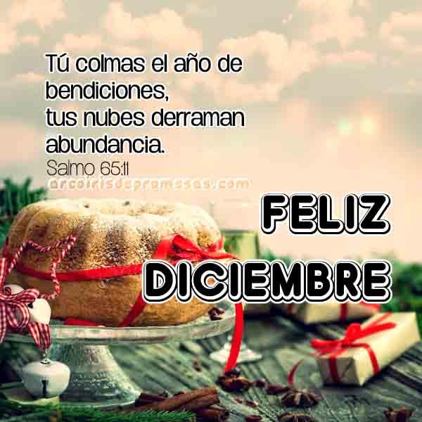 feliz mes de diciembre mensajes cristianos de aliento con imágenes arcoiris de promesas