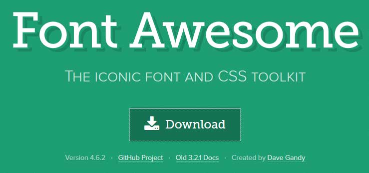 Font Awesome Download : Designers Crunch