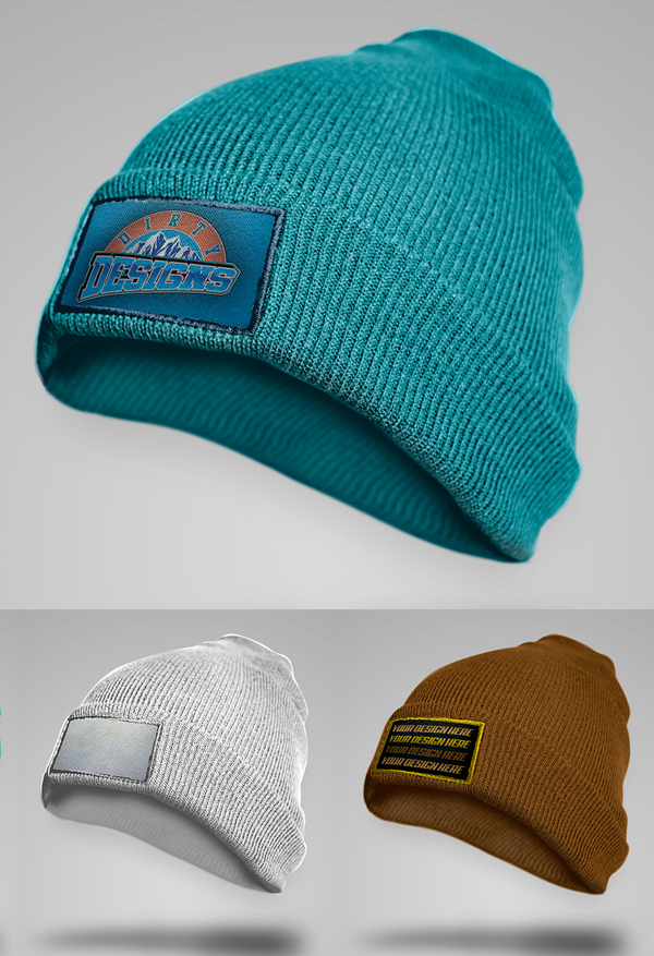 Mockup terbaru 2017 gratis - Free HD Beanie Embroidered Patch PSD Mockup