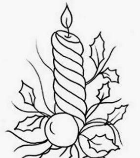 desenhos para pintar desenhos de velas de natal velas natalinas