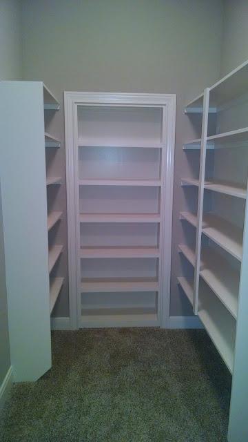 Built-In Shelving and Hidden Door