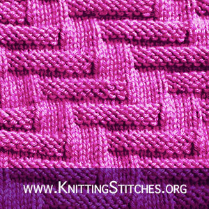 Escalator Stitch | Knitting Stitch Patterns. Suitable for beginners