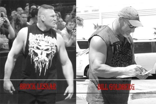 Brock Lesnar Vs Goldberg HD Wallpaper 2016