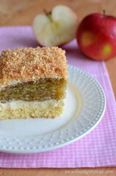 Ciasto z jabłkami i galaretką - Trociniak