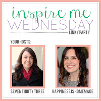 Inspire Me Wednesday with seven thirty three and Happiness is Homemade
