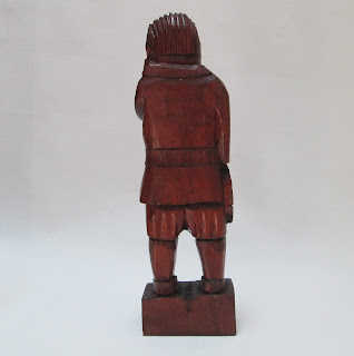Wood Carved Mexican Conguistador Back View