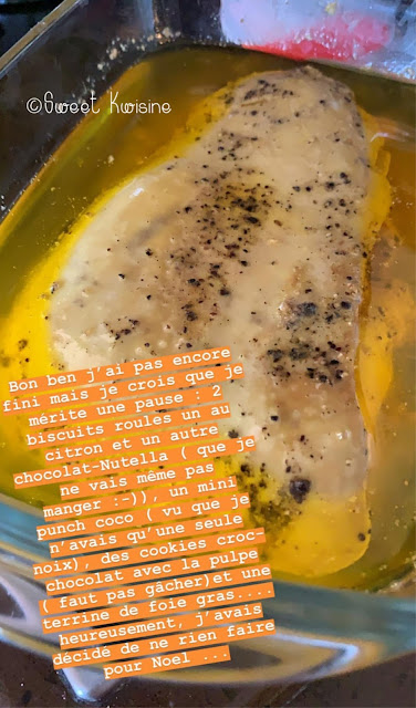sweet kwisine, foie gras, terrine, cuisine maison, noel, christmas