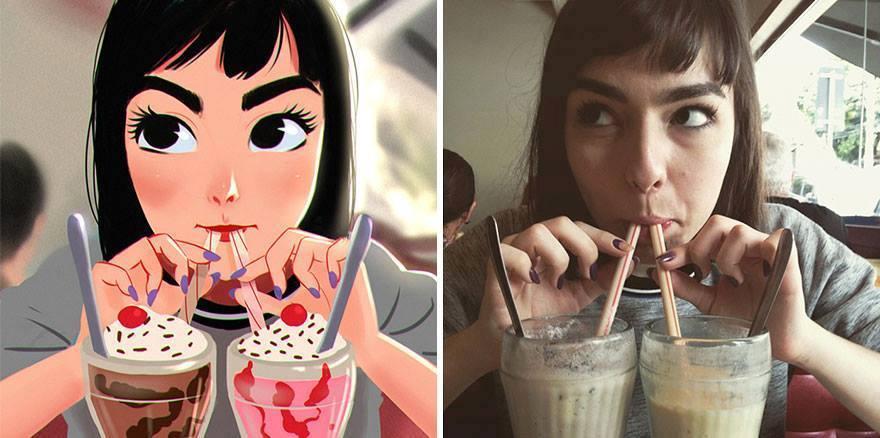 fotos transformadas em caricatura 02 - Pessoas transformadas em Caricaturas