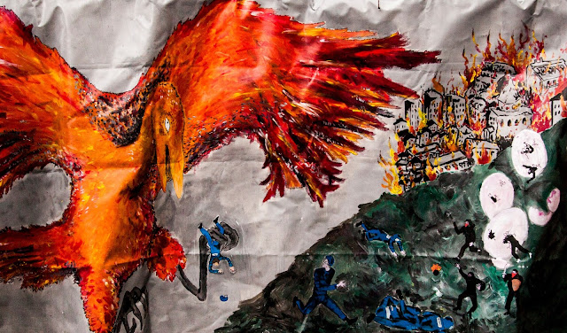 banderole oiseau de feu paris