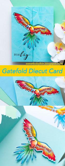 Gatefold Diecut Card