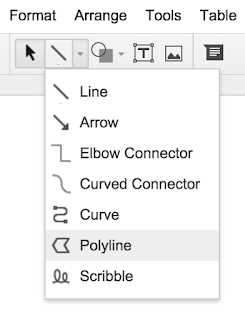 polyline tool highlighted