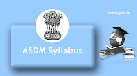 ASDM District Project Manager Syllabus