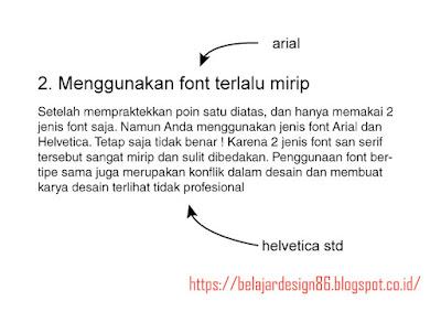 Penggunaan font terlalu mirip