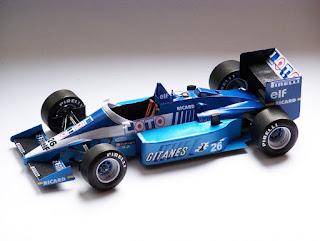 Ligier JS27 - Rene  Arnoux & Jacques Lafitte - GP France 1986 (GP Team)