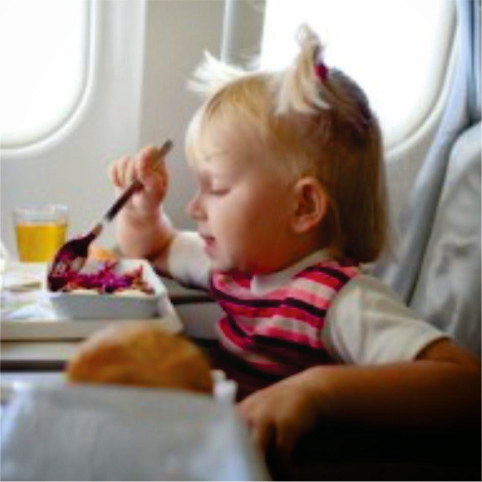 Avião com os pequenos