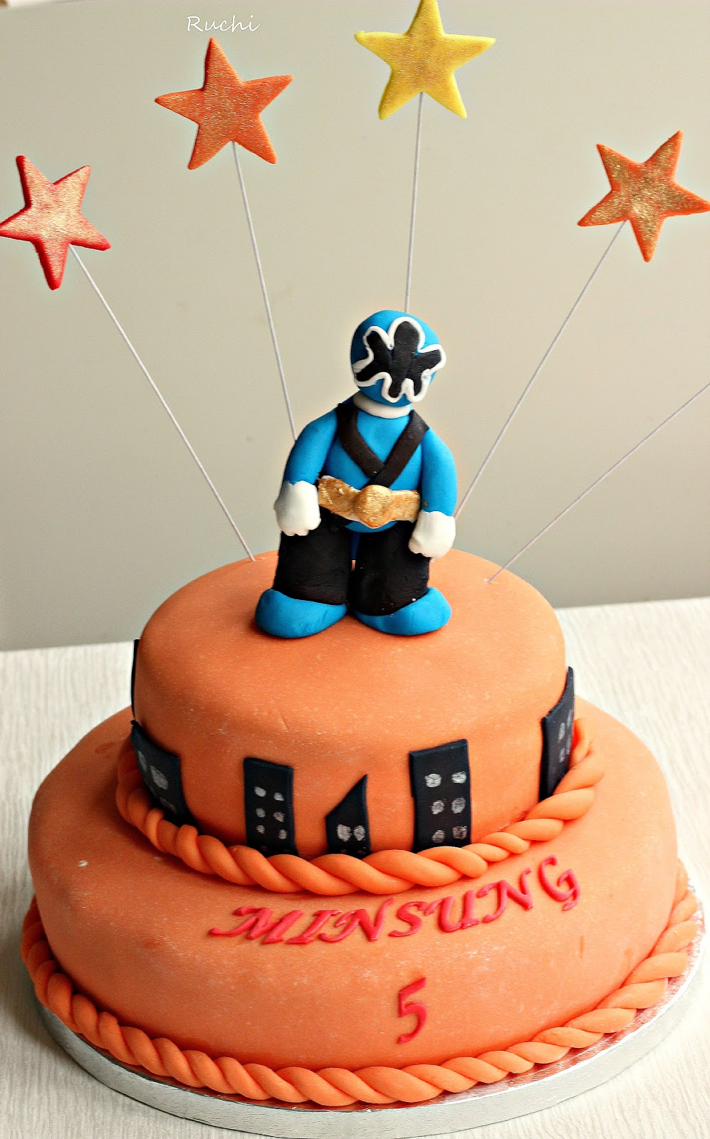 Ruchi Power Ranger S Cake A Strawberry Cake With
