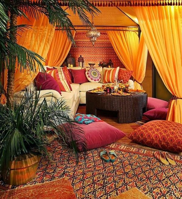 diseño de sala marroquí