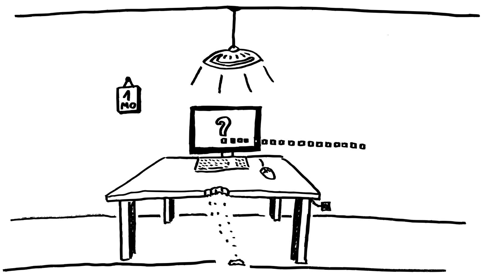 An den Tisch gebunden&comma