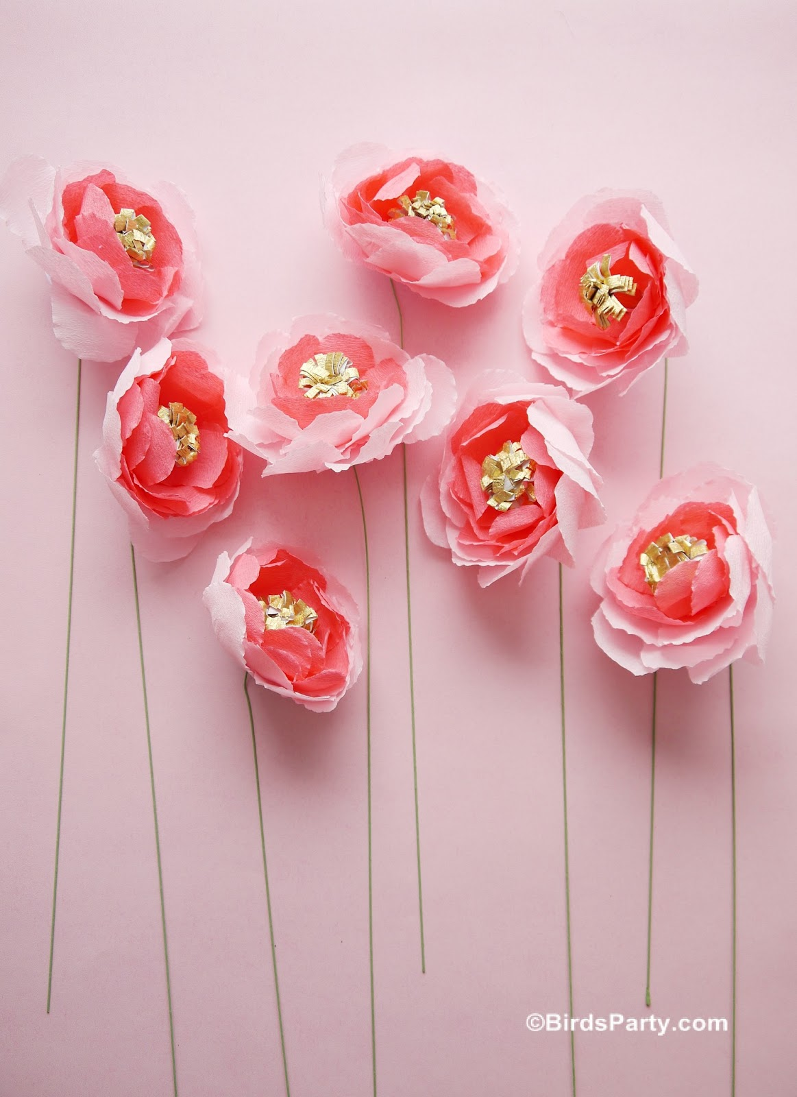 DIY Crepe Paper Flowers Bouquet - Party Ideas | Party Printables