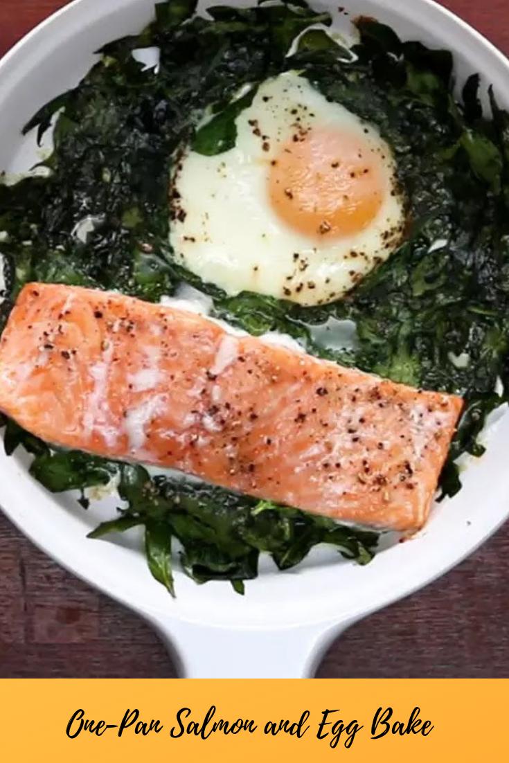 #One-Pan #Salmon #and #Egg #Bake