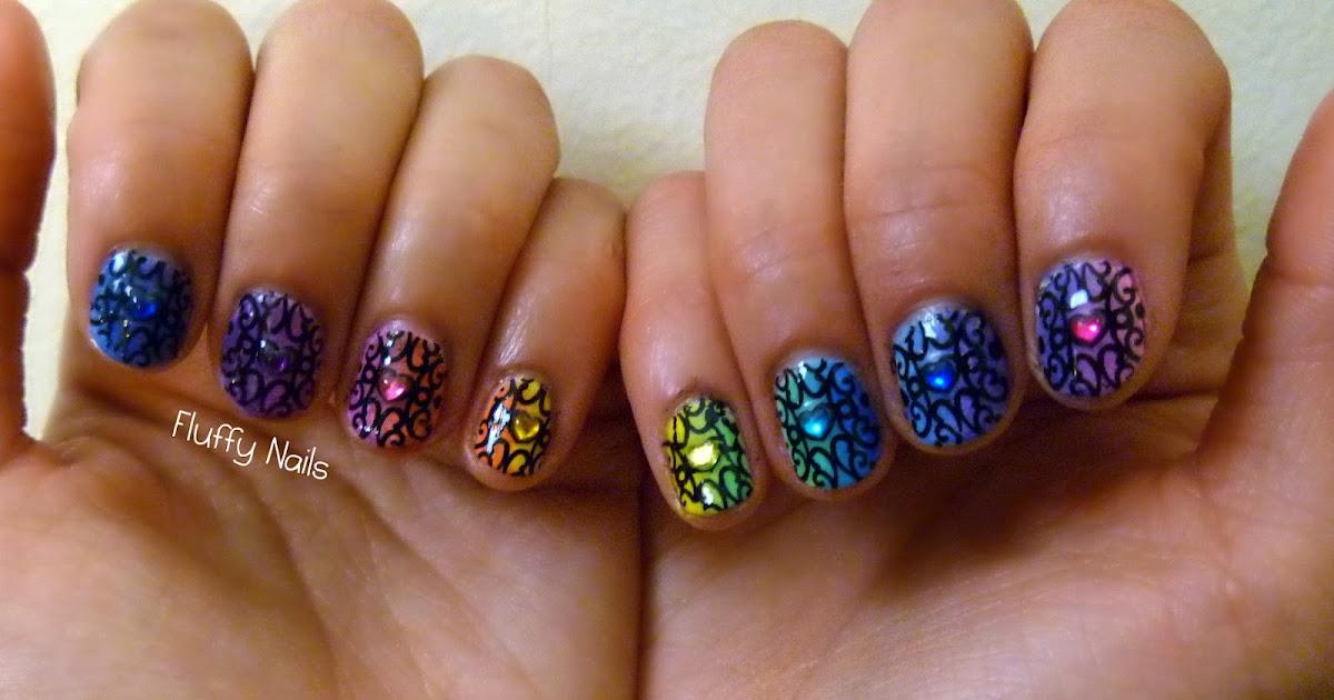 fluffy nails nail art arc en ciel d grad l 39 ponge rainbow gradient nails. Black Bedroom Furniture Sets. Home Design Ideas
