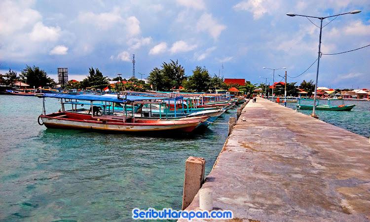 dermaga perahu pulau Harapan