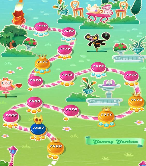 Candy Crush Saga level 7566-7580