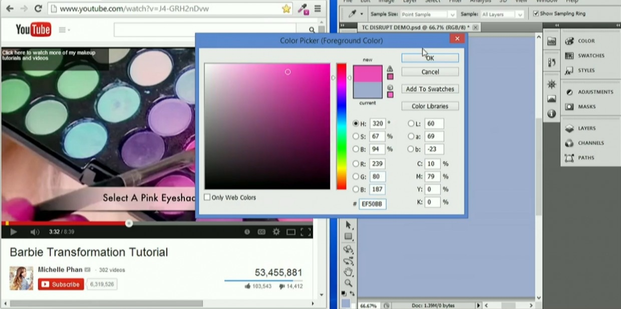 use color picker to pick your eyeshadow or lipstic color
