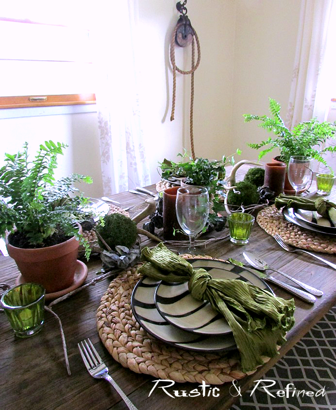 Set a beautiful yet casual dining table