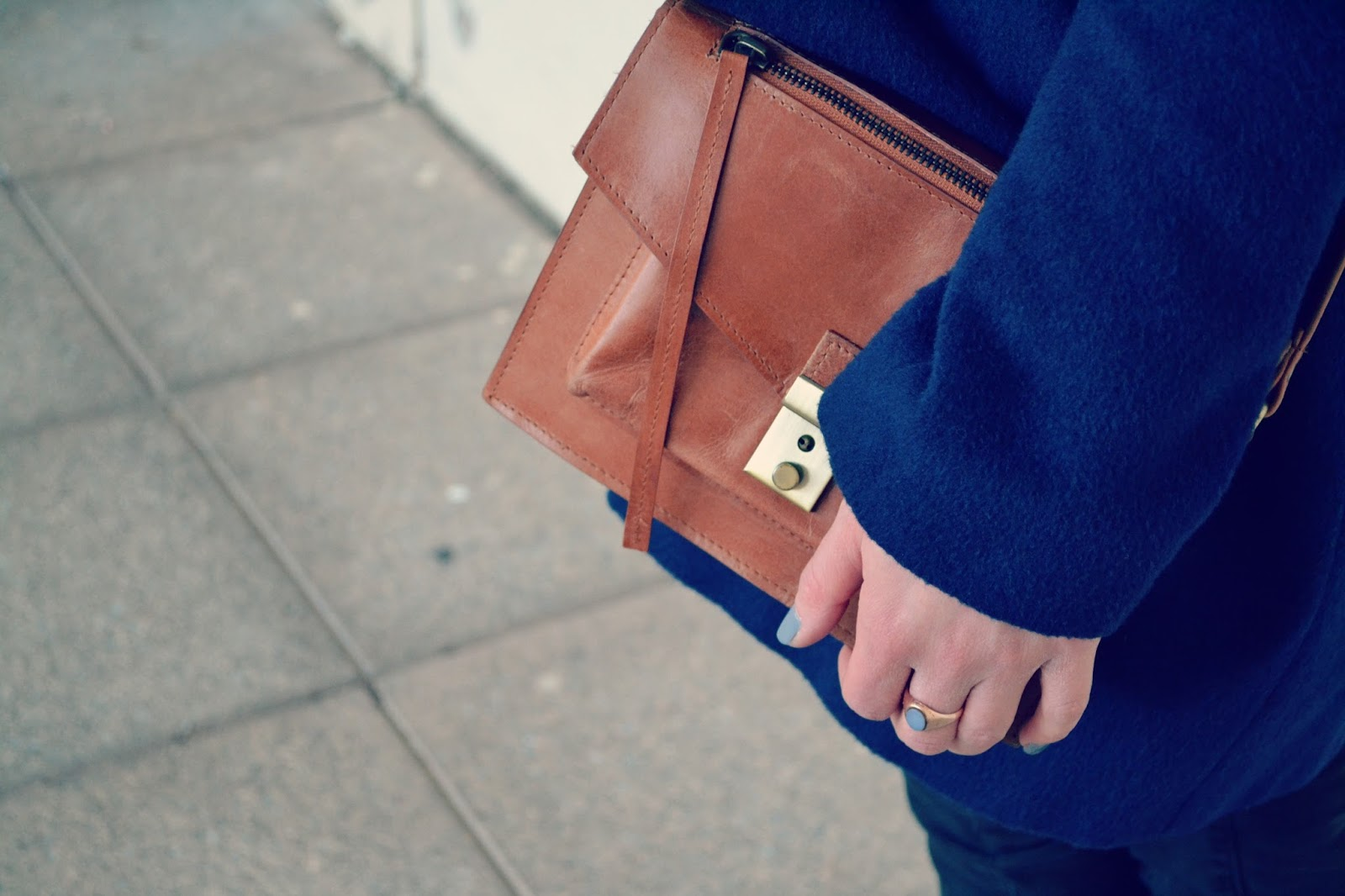 ASOS bag, vintage antique sardonyx ring