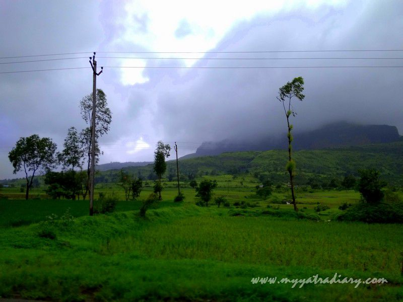 Scenic splendour on the Trimbakeshwar -Ghoti road near Nashik, Maharashtra