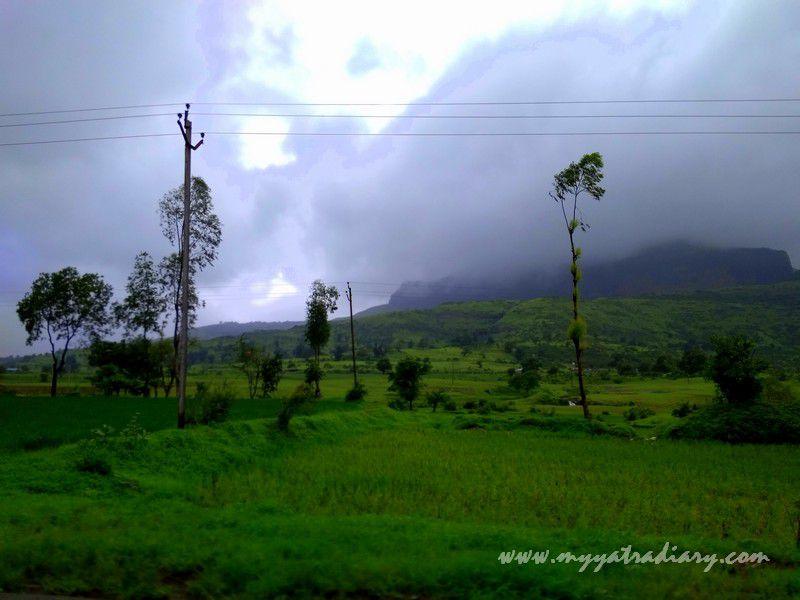 Scenic splendour on the Trimbakeshwar -Ghoti road near Nashik, Maharashtra