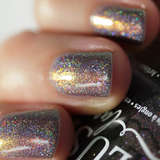 BLUSH Lacquers Midnight Moonbow swatch by Streets Ahead Style