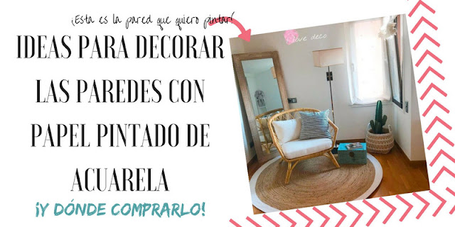 ideas para decorar las paredes con papel acuarela wallpaper watercolor