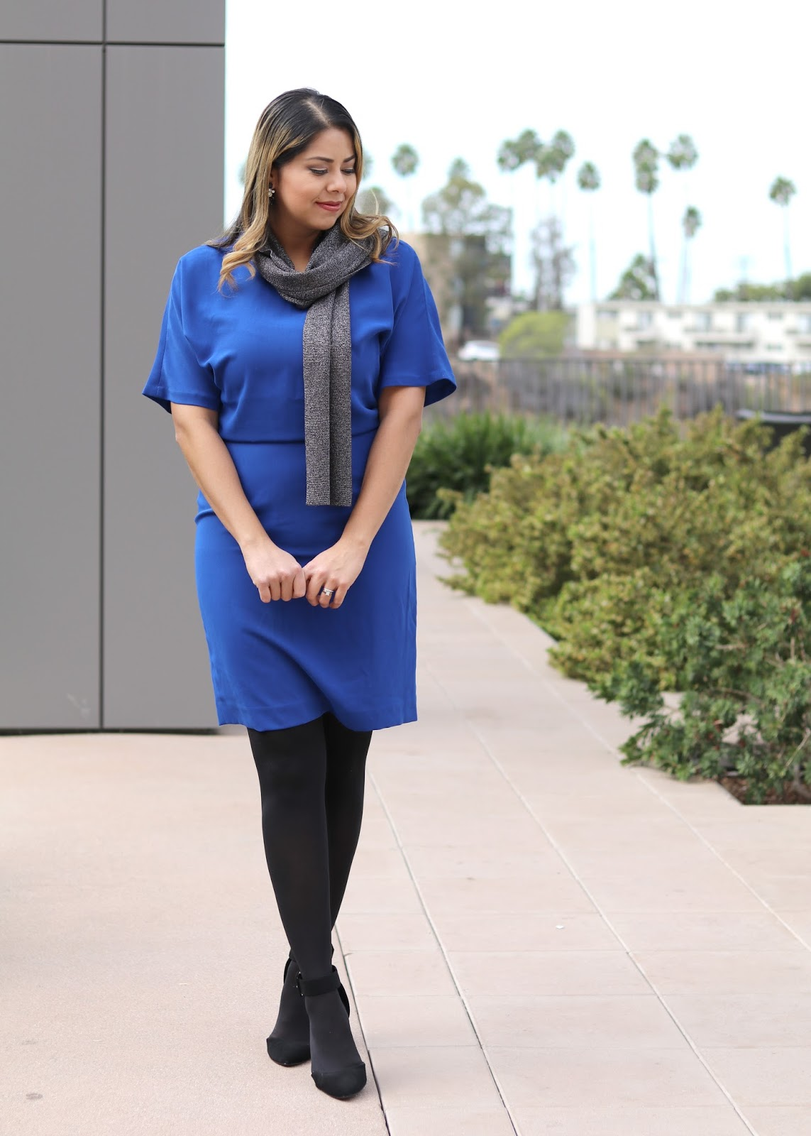 Black tights outfit, what to wear to your office holiday party, classy holiday outfit