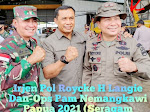Sukses Kawal Ops Nemangkawi Papua, Brigjen Roycke Harry Langie, Putera Minsel Dianugerahi Bintang (Irjen Pol)