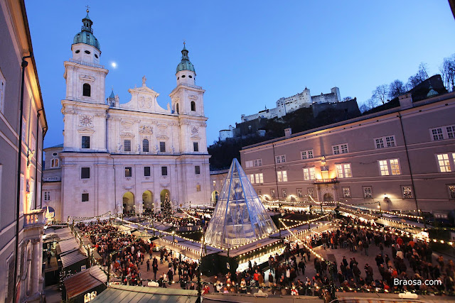 Mercato di Natale a Salisburgo in Austria